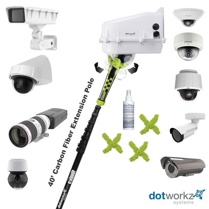 DomeCleanerPRO 40 Series Indoor/Outdoor Lens Cleaning Solution from Dotworkz (DW-PKG40-PRO)