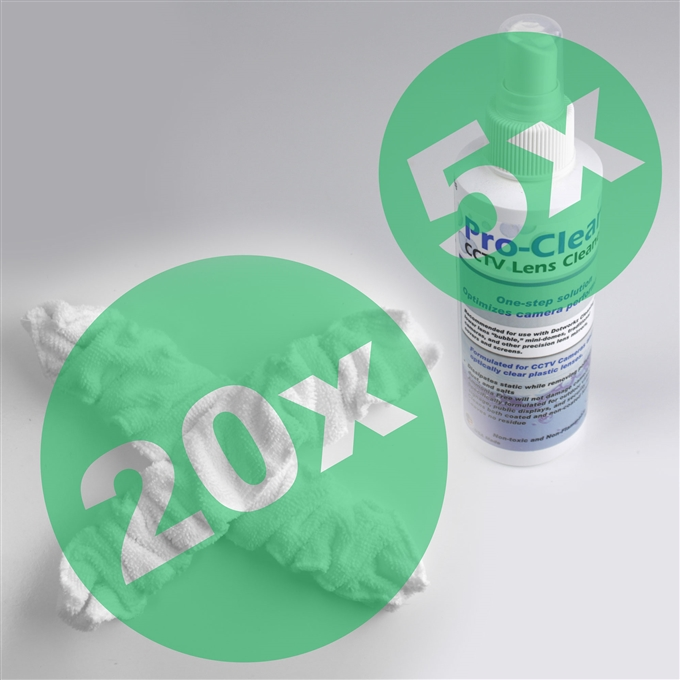 DomeWizard Cleaning Mitt Replacement 20 Pack & 5 Solutions from Dotworkz (DW-MT20)