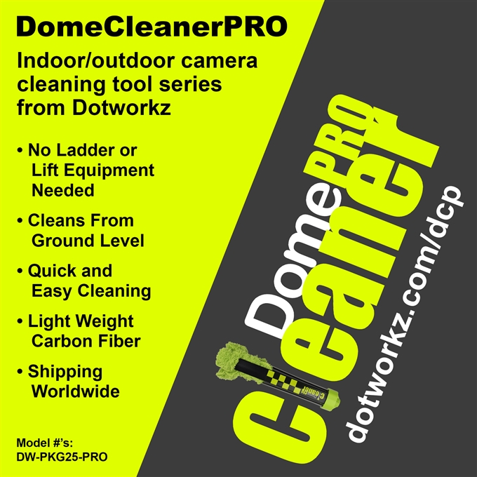 DomeWizard Lens Cleaning Head for DomeCleanerPRO from Dotworkz (DW-CLNR)