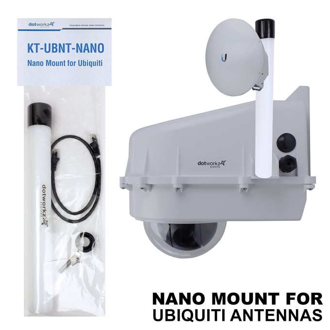 Nano Mount for Ubiquiti antennas: PowerBeam & NanoStation from Dotworkz (KT-UBNT-NANO)