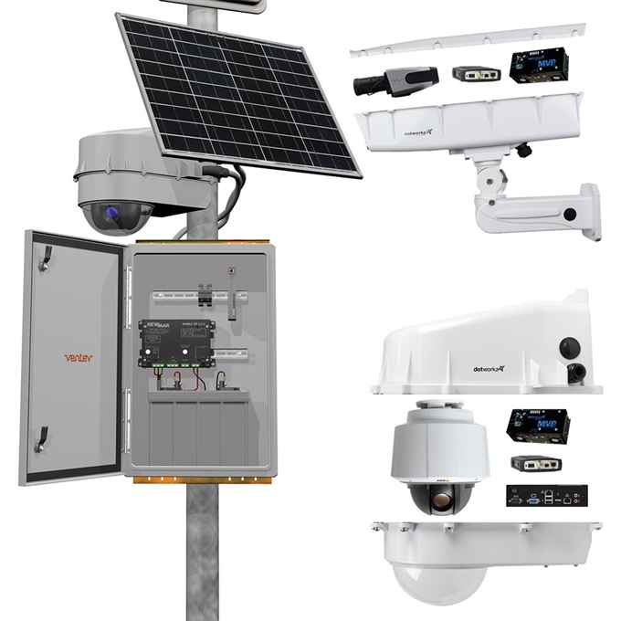Solar Camera Enclosure and Power Station from Dotworkz (Model Eclipse SE1000)