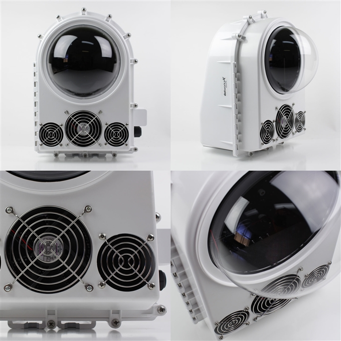Dotworkz D2 COOLDOME™ 12VDC Active Cooling Camera Enclosure IP66 (D2-CD)
