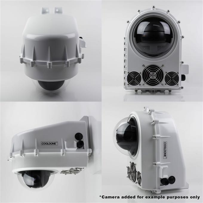 Dotworkz D2 COOLDOME™ 24VDC Active Cooling Camera Enclosure IP66 (D2-CD-24V)