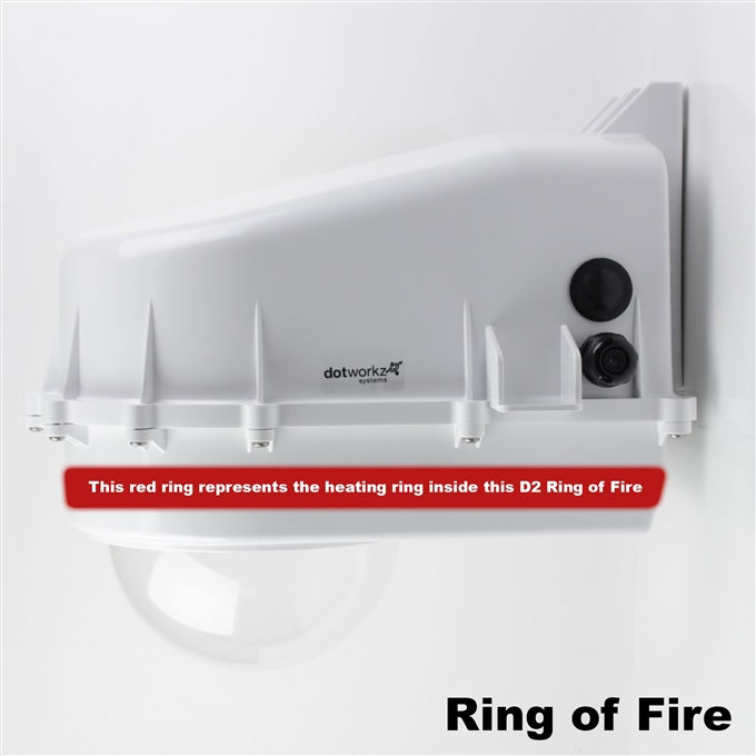 Dotworkz D2 Ring of Fire De-Icing Camera Enclosure IP68 with MVP (D2-RF-MVP)