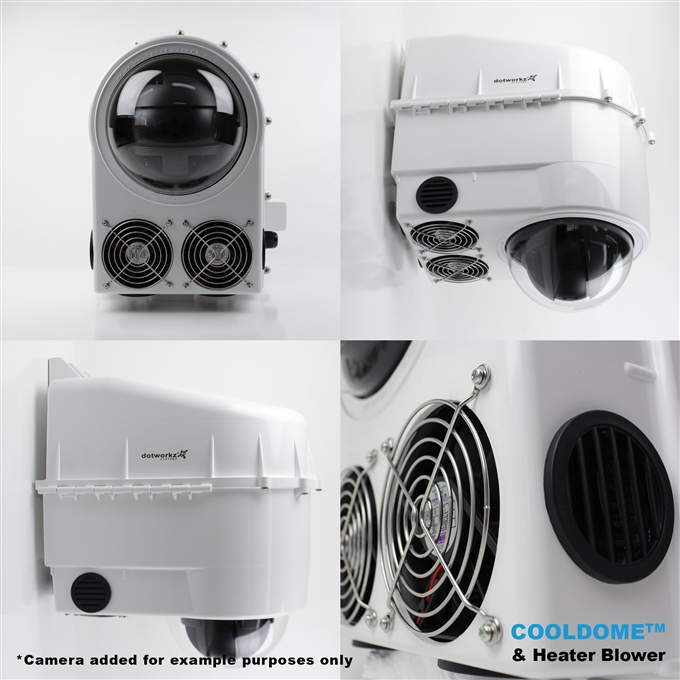 Dotworkz D3 COOLDOME™ Active Cooling and Heater Blower Camera Enclosure IP66 (D3-CD-HB)