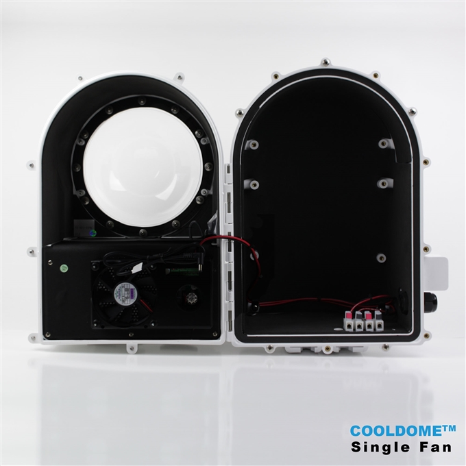 Dotworkz D3 COOLDOME™ Single Fan Active Cooling Camera Enclosure IP66 (D3-CD-S)