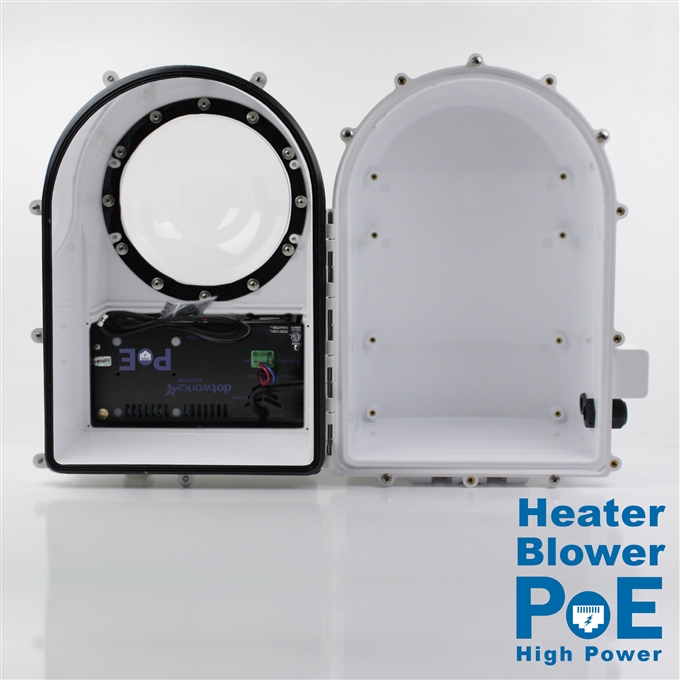 Dotworkz D3 Heater Blower Camera Enclosure IP68 with 60W High Power PoE (D3-HB-POE-60W)