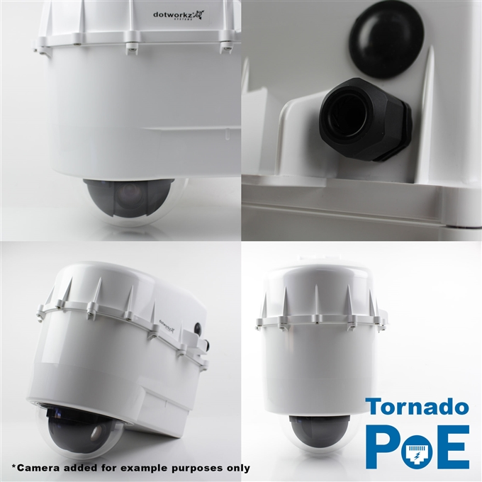 Dotworkz D3 Tornado Dual Blower Camera Enclosure IP68 with PoE (D3-TR-POE)