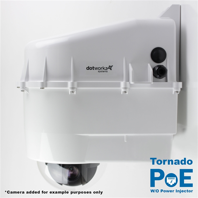 Dotworkz D3 Tornado Dual Blower Camera Enclosure IP68 with PoE and no Power Injector (D3-TR-POE-WO)