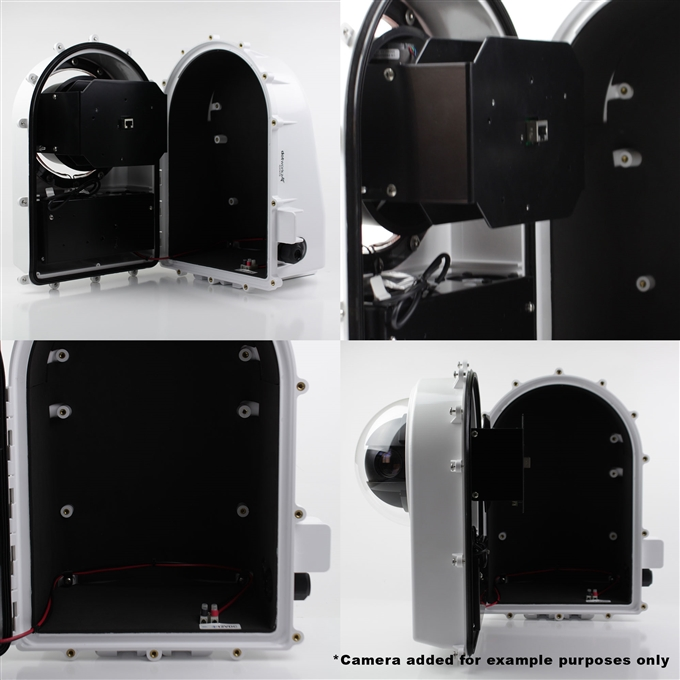 Dotworkz High Efficiency Power D2 Solar Heater Blower Camera Enclosure IP68 for Low Power Applications (D2-HB-SOLAR)