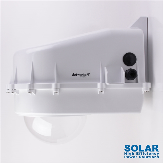 Dotworkz High Efficiency Power D2 Solar Tornado Camera Enclosure IP68 for Low Power Applications (D2-TR-SOLAR)