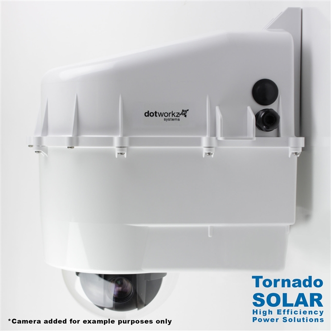 Dotworkz High Efficiency Power D3 Solar Tornado Camera Enclosure IP68 for Low Power Applications (D3-TR-SOLAR)