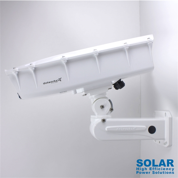 Dotworkz High Efficiency Power S-Type Solar Heater Blower Camera Enclosure and Aluminum Arm IP66 for Low Power Applications (ST-HB-SOLAR)