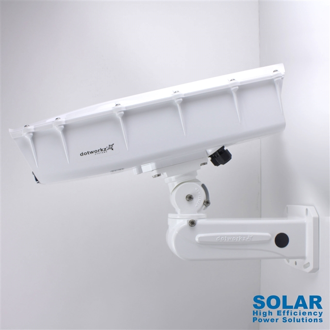 Dotworkz High Efficiency Power S-Type Solar Tornado Dual Blower Camera Enclosure and Aluminum Arm IP66 for Low Power Applications (ST-TR-SOLAR)