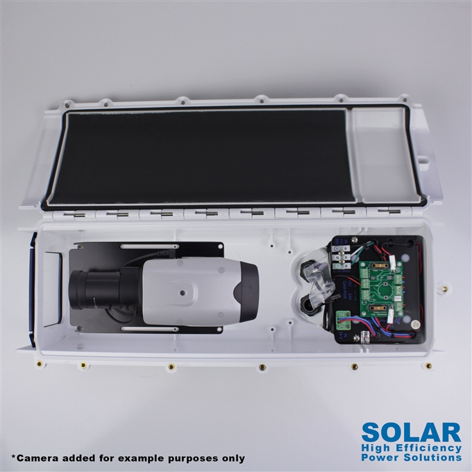 Dotworkz High Efficiency Power S-Type Solar Tornado Dual Blower Camera Enclosure and Stainless Steel IP68 for Low Power Applications (ST-TR-SOLAR-SS)