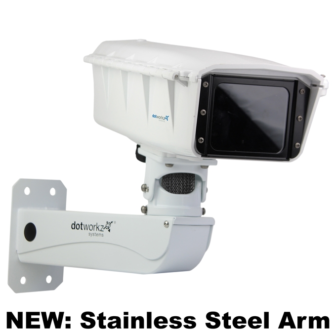 Dotworkz S-Type Base Model Camera Enclosure and Stainless Steel Arm IP66 (ST-BASE-SS)