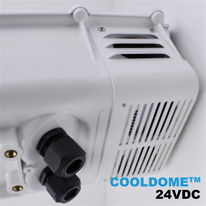 Dotworkz S-Type COOLDOME™ 24VDC Active Cooling Camera Enclosure and Stainless Steel Arm IP66 (ST-CD-24V-SS)