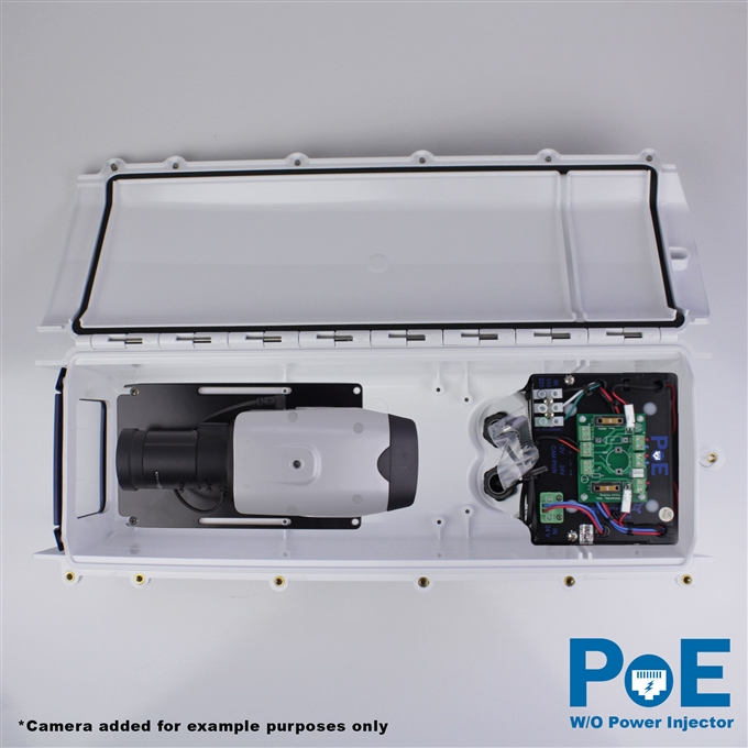 Dotworkz S-Type Heater Blower Camera Enclosure and Aluminum Arm IP66 with PoE and No Power Injector (ST-HB-POE-WO)