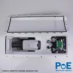 Dotworkz S-Type Heater Blower Camera Enclosure and Stainless Steel Arm IP66 with PoE and No Power Injector (ST-HB-POE-WO-SS)