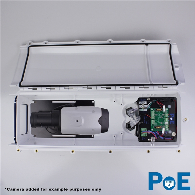 Dotworkz S-Type Heater Blower Camera Enclosure and Stainless Steel Arm with PoE (ST-HB-POE-SS)