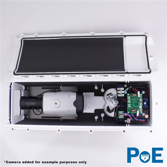 Dotworkz S-Type Tornado Dual Blower Camera Enclosure and Aluminum Arm IP66 with PoE (ST-TR-POE)