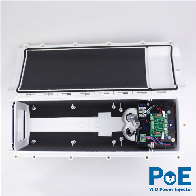 Dotworkz S-Type Tornado Dual Blower Camera Enclosure IP66 with PoE and no Power Injector (ST-TR-POE-WO)