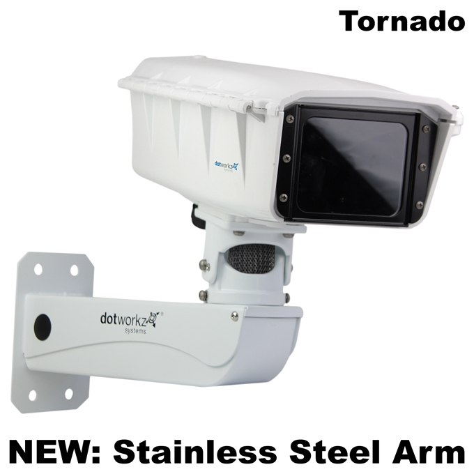 Dotworkz S-Type Tornado Dual Blower Camera Enclosure and Stainless Steel Arm IP68 (ST-TR-MVP-SS)