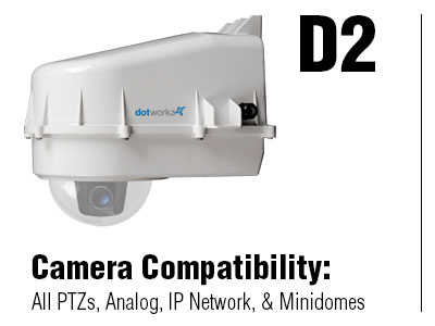 D2 Enlcoure for PTZ/Mini Dome Security Camera and Security Camera Equipment Enclosure