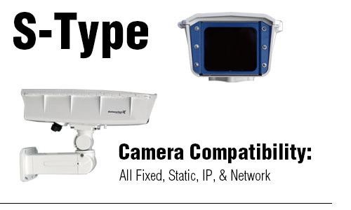S-Type Enlcoure for Static/Fixed Security Camera and Security Camera Equipment Enclosure