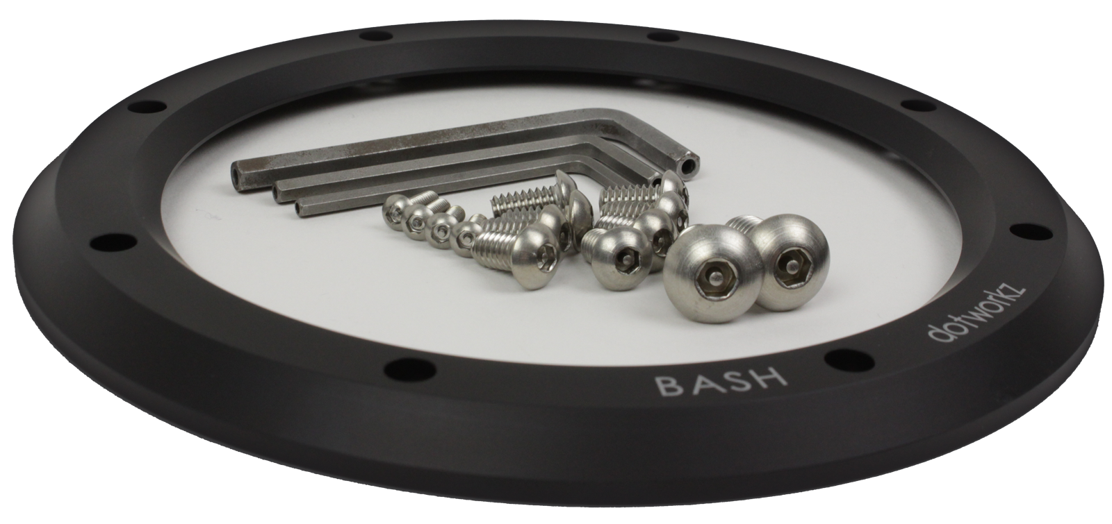 bash 2015 accessory vandal proof hardware pack model ac-vp-kit with front bash ring shown short