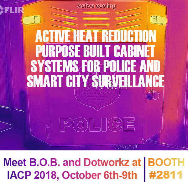 dotworkz 2018 Active heat reduction purpose built cabinet systems for police and smart city surveillance
