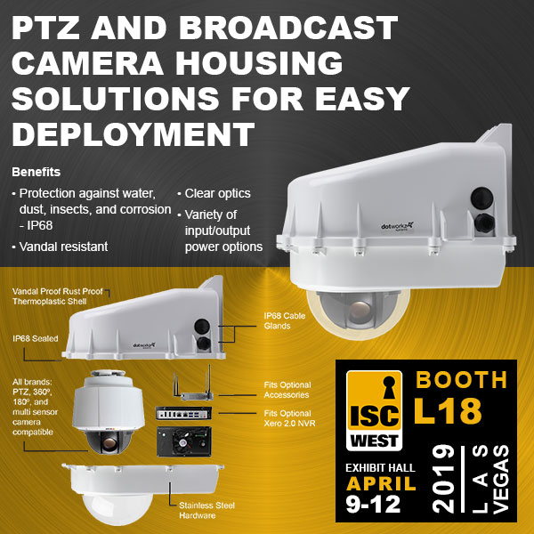 dotworkz 2019 d2 PTZ and broadcast outdoor ready solutions for easy deployment