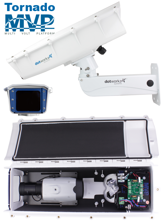 Dotworkz 2019 S-Type Camera Housing with Stainless Steel Arm for Static Cameras IP66 Tornado Hot Humid Climate Ready