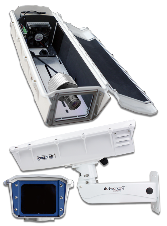 dotworkz 2019 s-type cooldome with ip66 for arecont av5100 compatible cameras by dotworkz outdoor camera enclosures