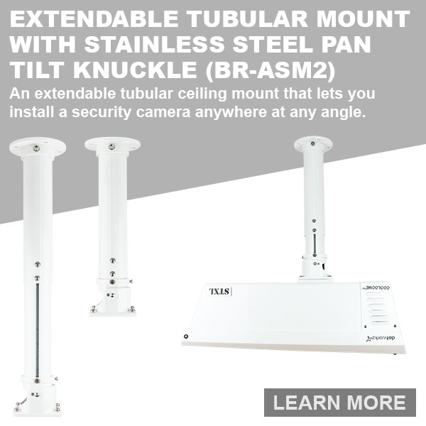 dotworkz 2018 An extendable tubular ceiling mount that lets you install a security camera anywhere BR ASM2