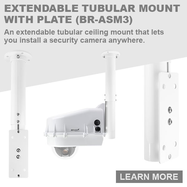 dotworkz 2018 An extendable tubular ceiling mount that lets you install a security camera anywhere BR ASM3