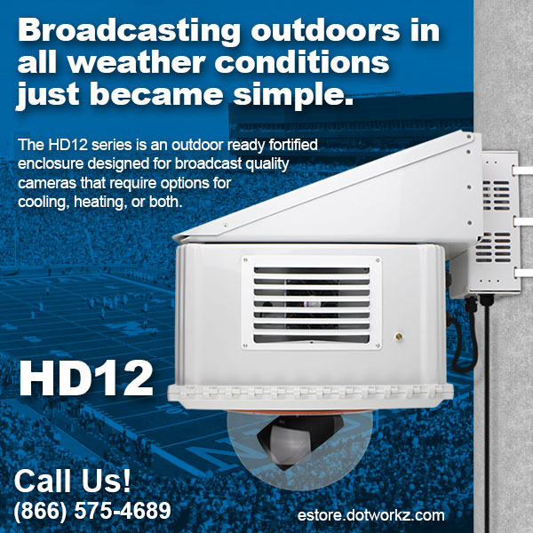 HD12 - Broadcasting outdoors in all weather conditions just become simple.