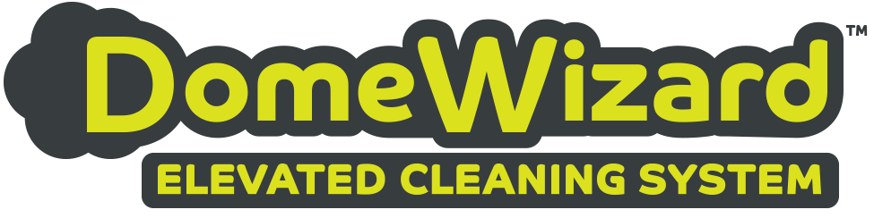 DomeWizard Elevated Cleaning System with Multiple Cleaning Modes Logo 2020 Dotworkz gry chrt