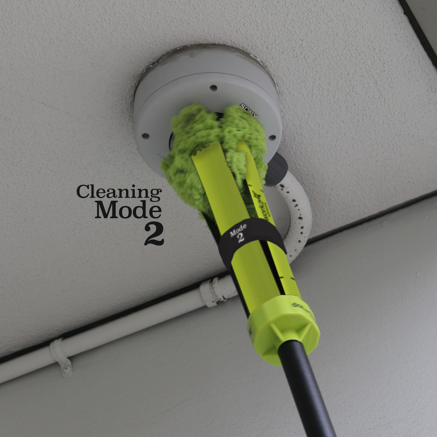 domewizard 2020 elevated multi mode cleaning system action shots from dotworkz cleaning mode 2 example 1 chrt