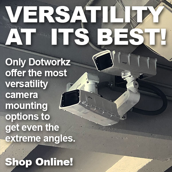 dotworkz 2019 Only Dotworkz offer the most versatility camera mounting options to get even the extreme angles