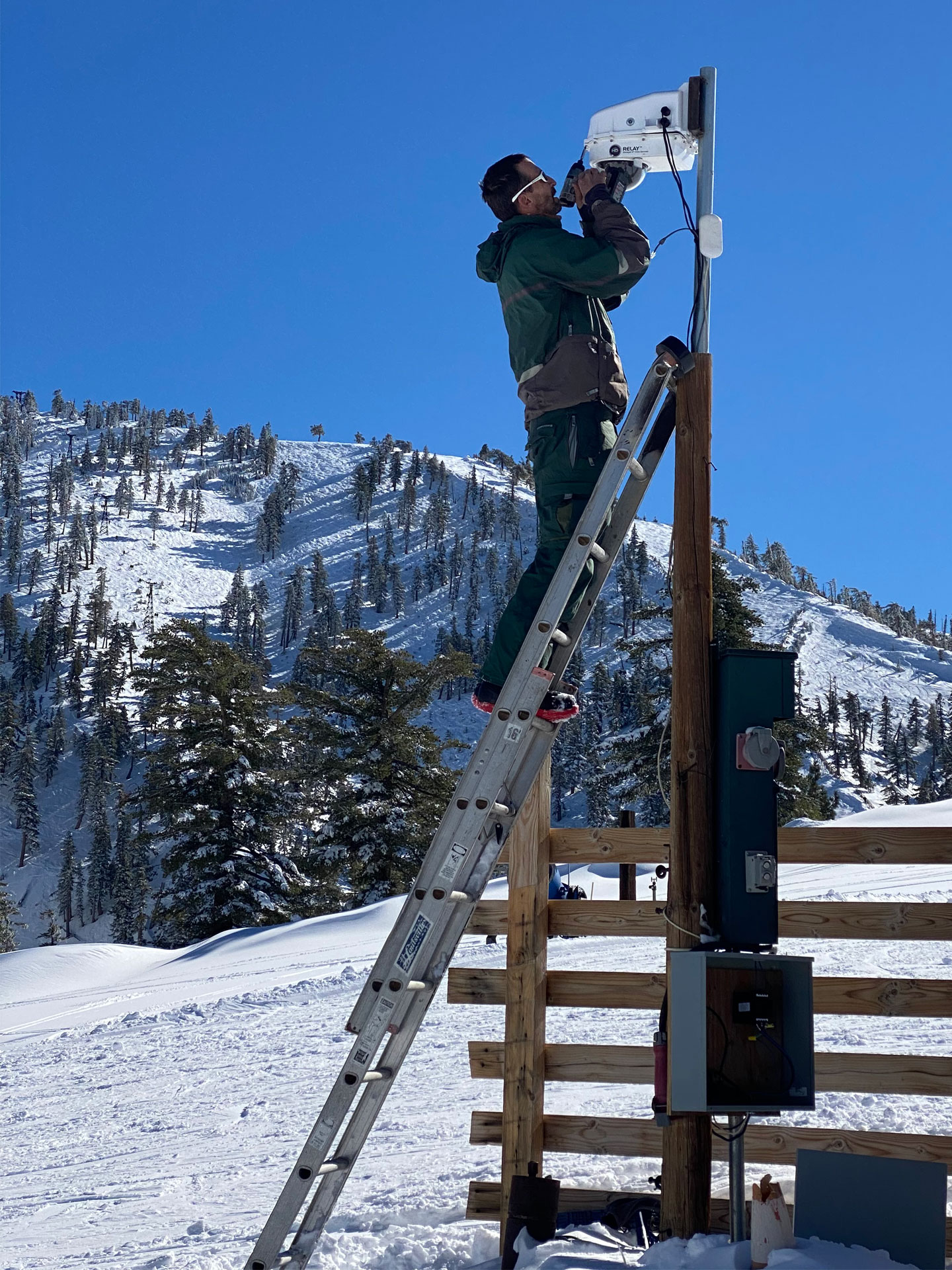 D2 IP68 Ring of Fire De Icing Camera Housing Install at Mount Baldy