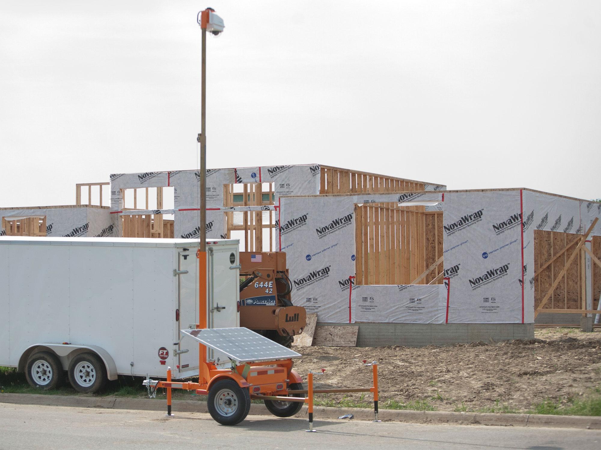 Customer case residential construction solar for Ptz construction