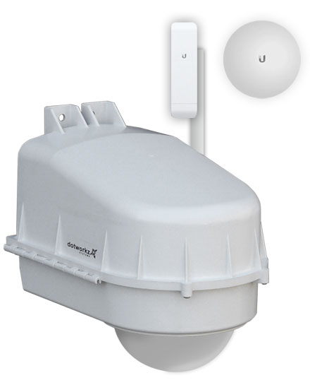 D2 Housing with Nano Mount Showcasing Ubiquiti PowerBeam